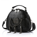 Trendy Casual Small Bag Women Exquisite Knitting Shoulder Bag Chain Metallic Tassels MINI Chic Hand Bag