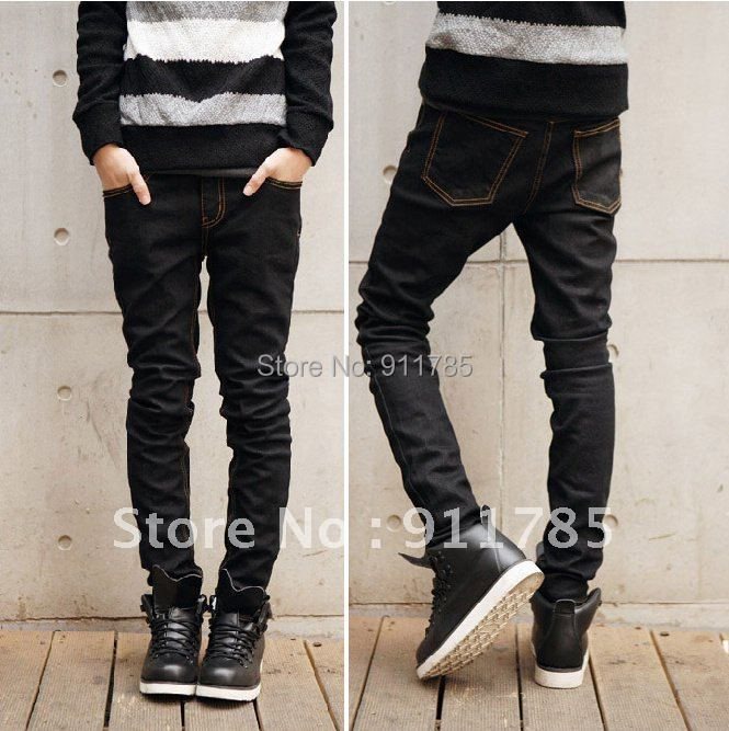 2015 new College style skinny jeans men casual Slim fit Micro Stretch small feet pants Blue male jeans,28-34 - LANG MEI'S store