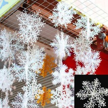 2016 HOMESTIA 30 unids Blanco copo de Nieve de Nieve de Navidad Cadena Decoración De La Boda Del Partido Del Festival Adornos de Navidad Suministros Envío