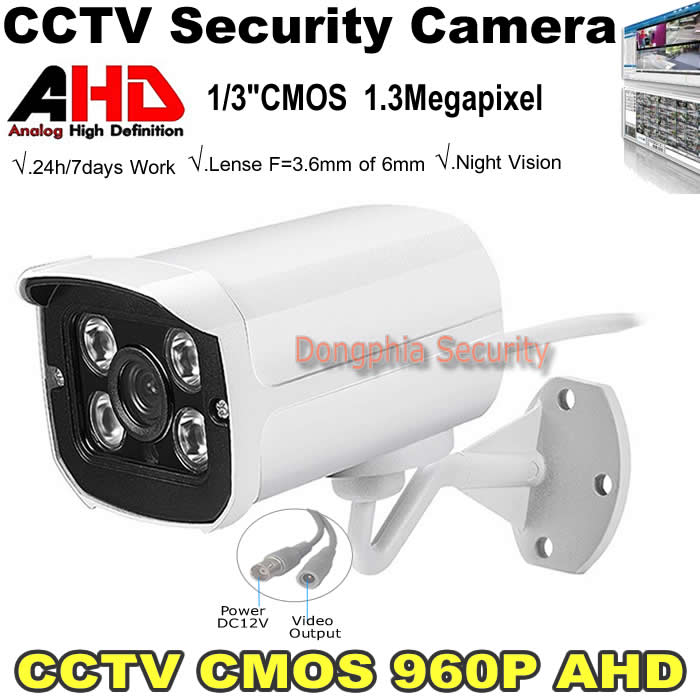 1.3MP AHD Camera 960P HD With 4Pcs Array Leds Waterproof CCTV Security System Outdoor Analog High Definition Home Surveillance(China (Mainland))
