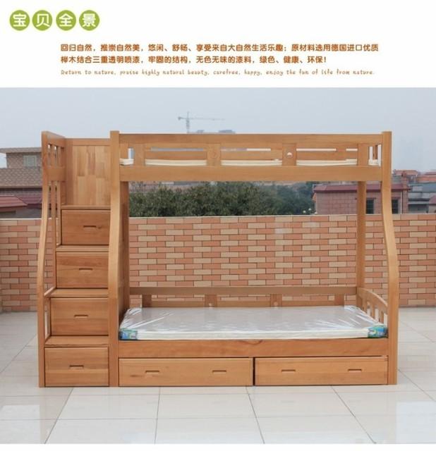 Ikea per bambini letto in legno massello di faggio letto a castello cluster letto di alta e - Letto in legno ikea ...