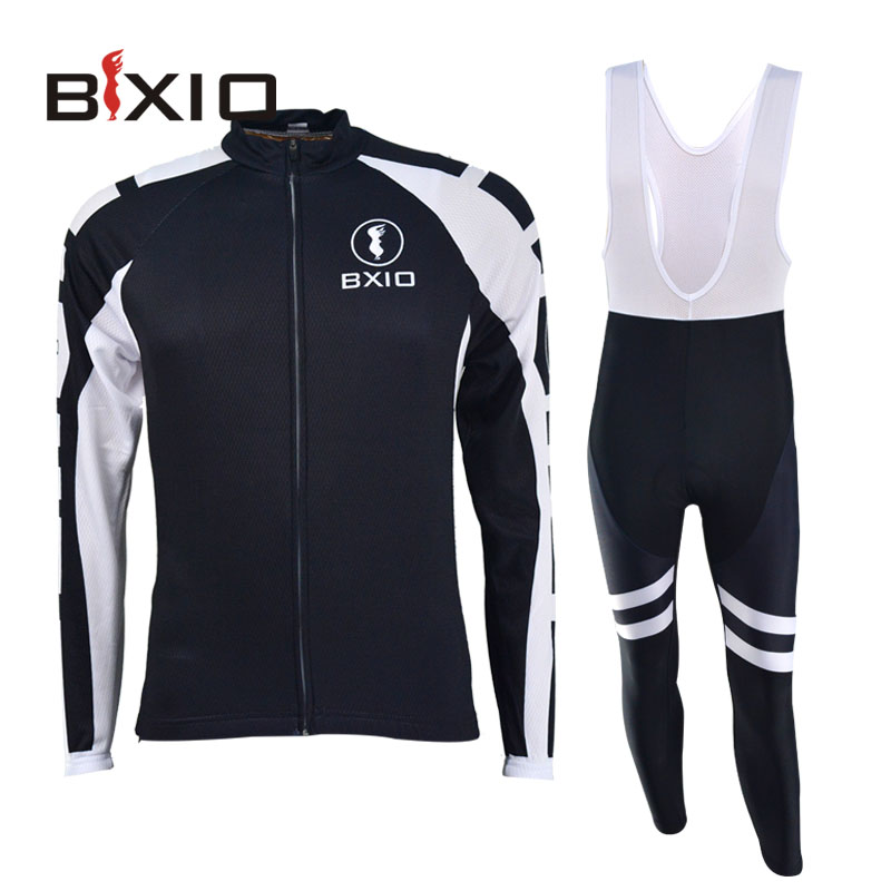 Bxio Full Sleeve Cycling Jersey Black Cycle Wear Anti-Pilling Quick Dry Bike Clothing Ropa Ciclismo Hombre Cycling Kit 015(China (Mainland))