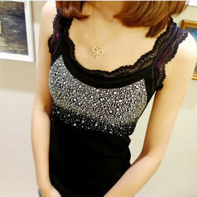 wholesale cheap cute lace ladies vest tank tops