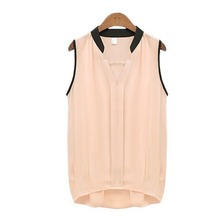 Buy NEW Summer Fashion Women Blouses Casual V-neck Sleeveless Chiffon Vest Blouse Tee Loose Tulle Shirt Top for $2.59 in AliExpress store