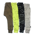 Boys Pants Children Harem Pants Geometric Print Baby Girls Trousers Kids Toddler Cotton Clothing 2017 New