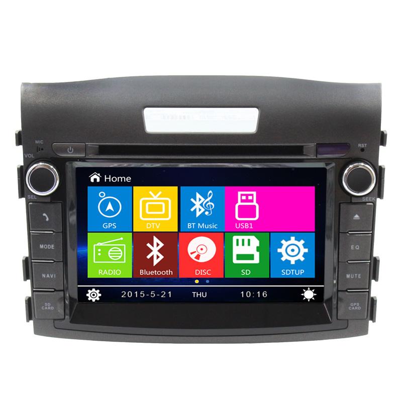 8 inch car dvd player gps navigation system for honda crv. Black Bedroom Furniture Sets. Home Design Ideas