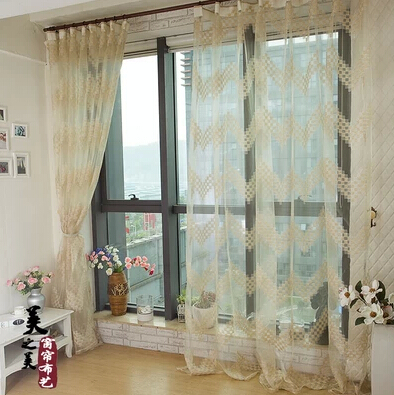 Promotion jacquard window curtain yarn organza gauze for Tende in voile