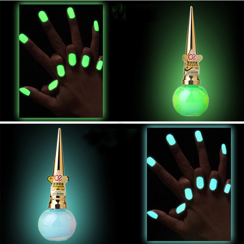 Women Glow In The Dark Nail Polish Luminous Nail Polishes Innovative Nail Art Waterproof Armor Nail Polish(China (Mainland))
