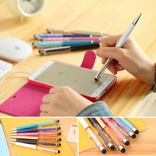 1 шт. мило кристалл ручка с бриллиантами шариковые ручки канцтовары шариковая ручка 2 в 1 кристалл стилус стилус бесплатная доставка