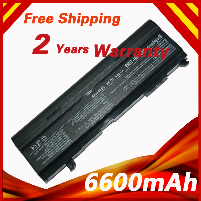 6600mAh laptop battery for Toshiba Satellite M115-S3000 M40-102 M40-103 M40-129 M40-135 Tecra A3 A4 A5 A6 A7 S2 Series(China (Mainland))