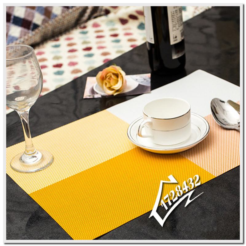 Placemat Fashion PVC Dining Table Mat Disc Pads Bowl Pad Coasters Waterproof Table Cloth Pad Slip-Resistant Pad Placemats C0001(China (Mainland))