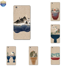 Phone Case Huawei P8/P8 P9 Lite Plus G9 Shell Honor 5C 7 7I Back Cover Mate 8 Cellphone Cup Mountain View Design - WISAPI Store store