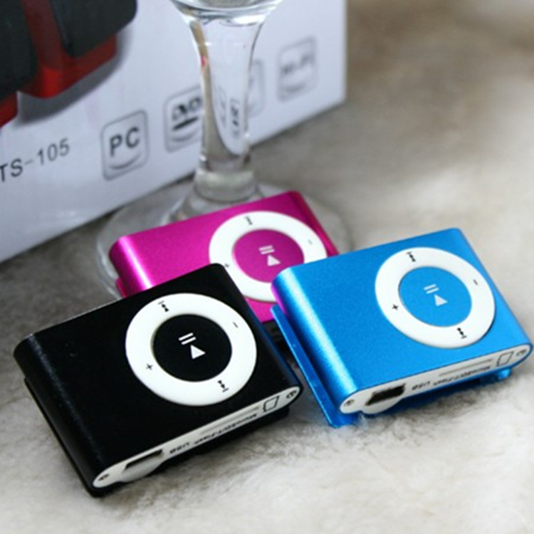 Fashion High Quality Mini Clip Mp3 Player Electronic Products sports Metal Music Players free Shipping
