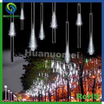 high brightness 192leds/pcs,6pcs 100cm meteor tube light led rain drop light for outdoor tree decoration holiday light(China (Mainland))