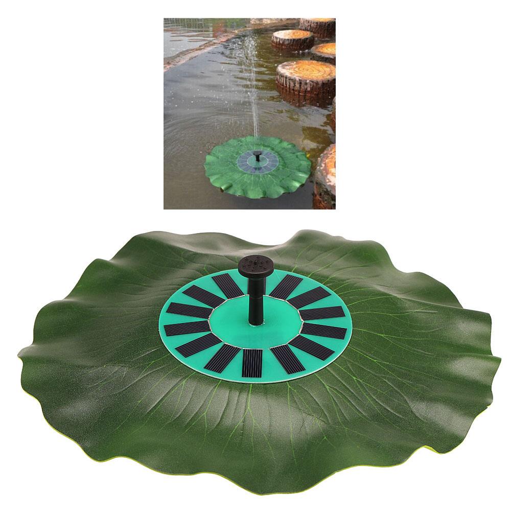 Solar-power Lotus Leaf Fountain Floating Brushless Decoration Pump Kit for Bird Bath Garden Pond Energy-saving(China (Mainland))