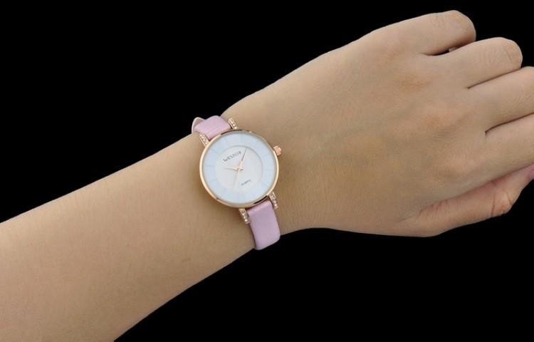 2016 новый дизайн женщин часы лучший бренд WESTCHI часы водонепроницаемые 30 м ремень из натуральной кожи наручные часы