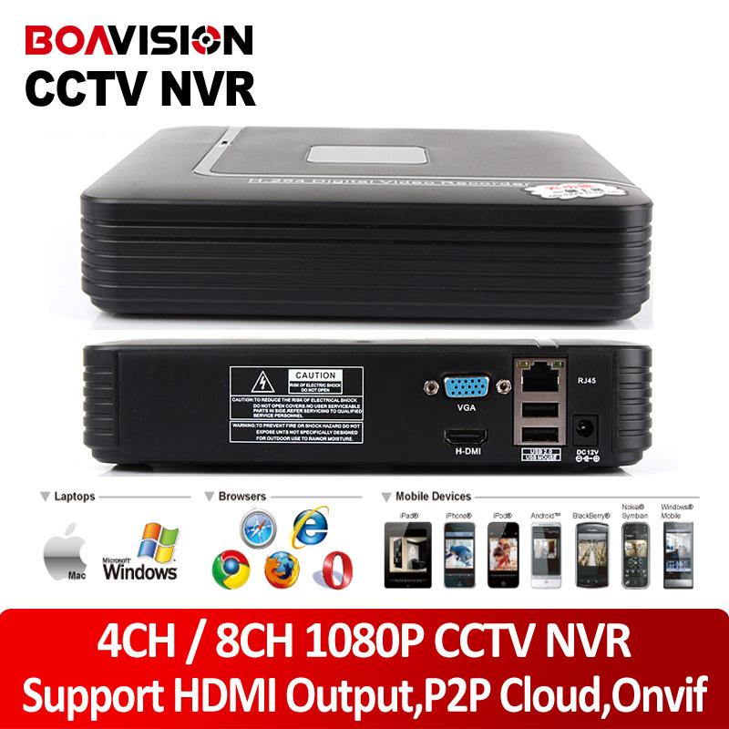 BOAVISION H.264 4Ch / 8Ch Mini NVR CCTV Network Digital Video Recorder 1080P Support ONVIF HDMI Output P2P Cloud View - Shenzhen Boavision Technology Co.,LTD store