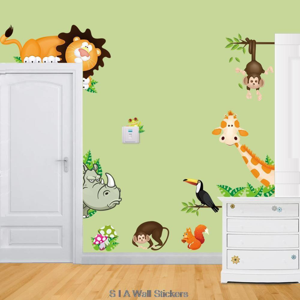 aliexpress com buy 2015 new cartoon animals vinyl wall personalised boys name football wall decal sports themed