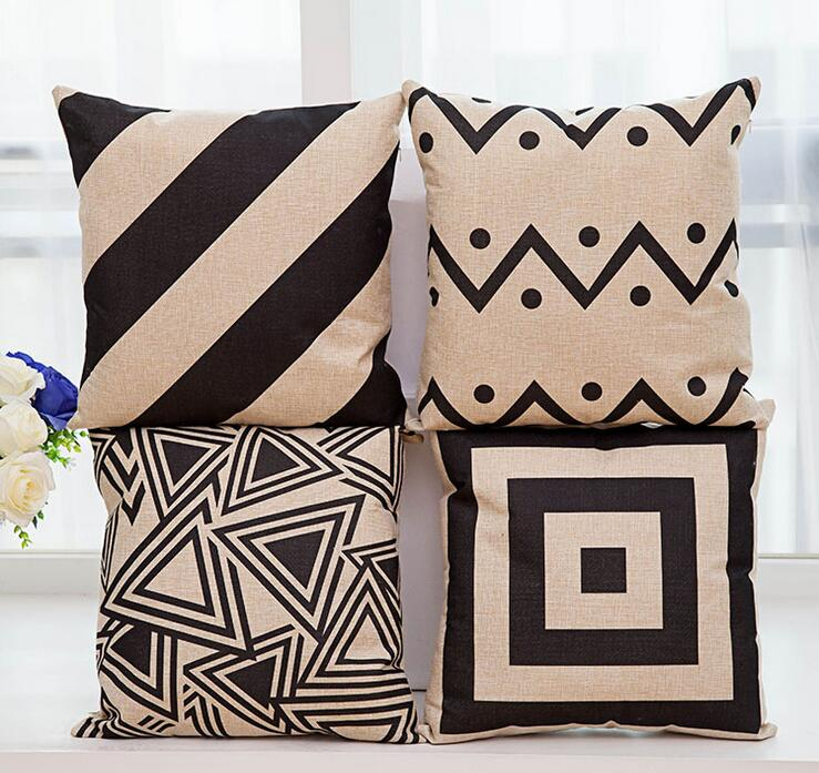 IKEA Nordic Style Throw Pillow Covers Home Decor Minimalist Geometric Pattern Cushions For Sofas Car Office Decorated Pillowcase(China (Mainland))