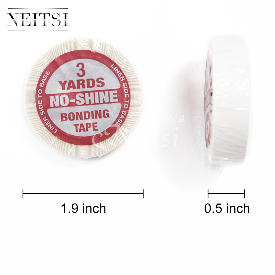 Neitsi 1PC 0.5inch 3 Yards NO-SHINE BONDING Tape Double Side Adhesive Tape For Skin Weft Tape Hair Extensions LINER SIDE TO BASE(China (Mainland))