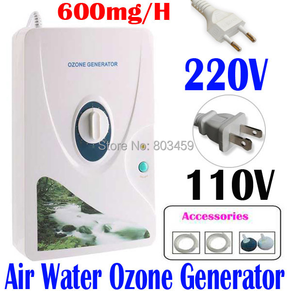 High Quality 600mg/h 220V 110V Ozone Generator Ozonator ionizer O3 Timer Air Purifiers Oil Vegetable Meat Fresh Purify Air Water(China (Mainland))
