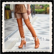 4pairs/lot  Dropshipping Best selling Winter lady fashion dress boots over the knee sexy lady boots shoes four colors S0008(China (Mainland))