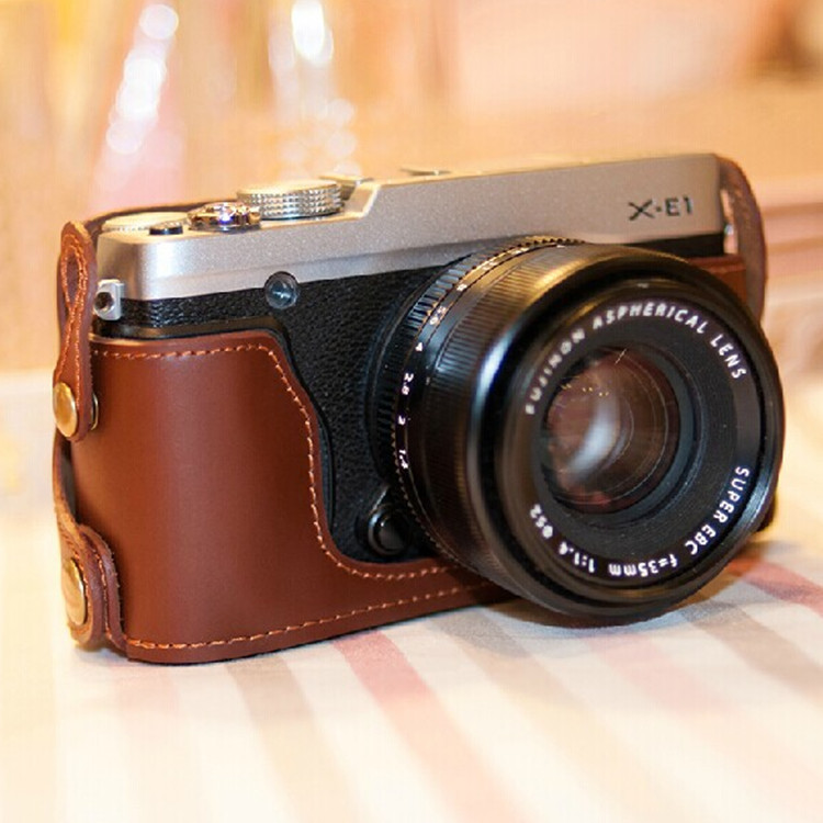 2015 new Genuine Leather Camera case bag bottom case for Fujifilm Fuji XE2S X-E1 X-E2 XE1 XE2(China (Mainland))