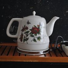 Supply Jingdezhen Ceramic Smart Kettle Coffee teapot kettle flowers 18002