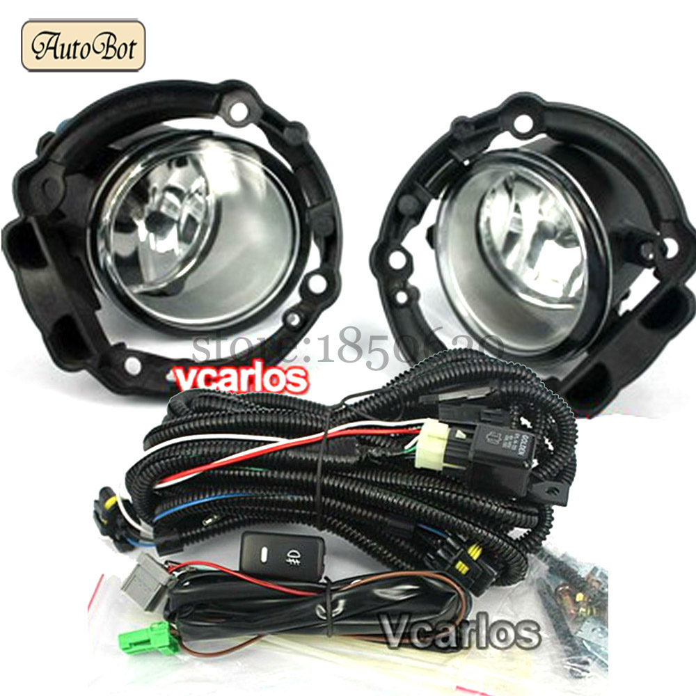 High Quality Fog Lights Lamp Toyota Daihatsu Xenia 2008 AVANZA 2007 Clear Lens Pair Set With Wiring Kit Fog Light Set(China (Mainland))