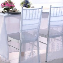 10pcs Lace Embroidery organza Chiavari Chair Covers wedding decor banquet celebrations special events(China (Mainland))