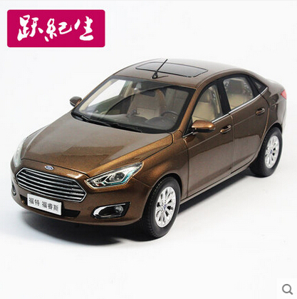 2015 New Ford Escort 1:18 Original high-quality alloy car model TOY car Christmas gift boy collection brown(China (Mainland))