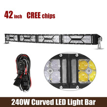 42Inch X-Series LED Light Bar Cree Chips 240W 24000LM 10V-30V For Off-Road vehicles-ATVs SUV truck Fork lift trains(China (Mainland))