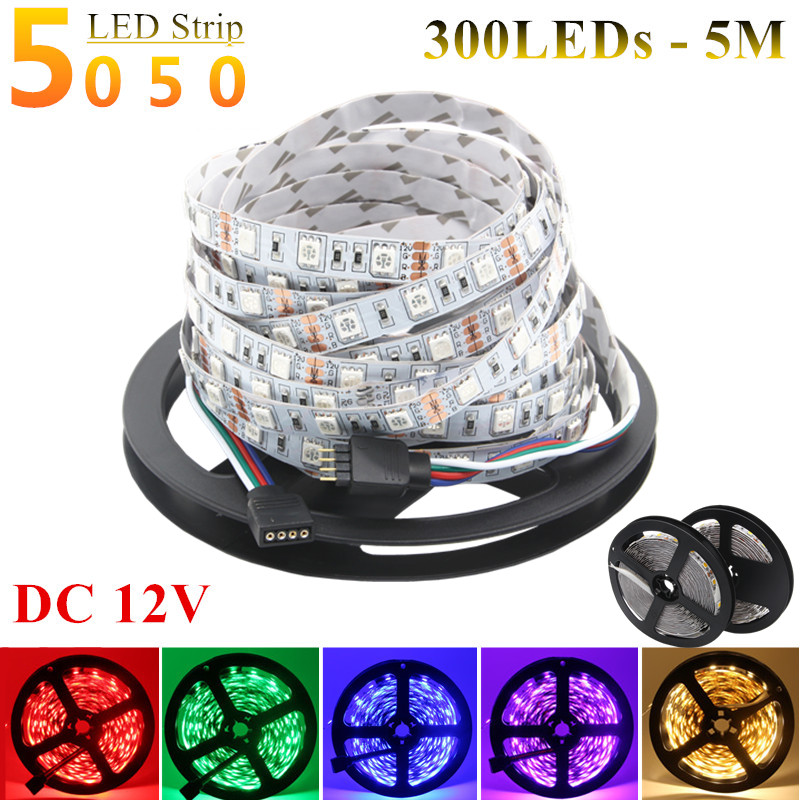 DC 12V 5M 300LEDs Not Waterproof Single Color RGB LED Strip 5050 SMD 5630 3528 Flexible Light Neon Lamp Tiras LED Light Garland(China (Mainland))