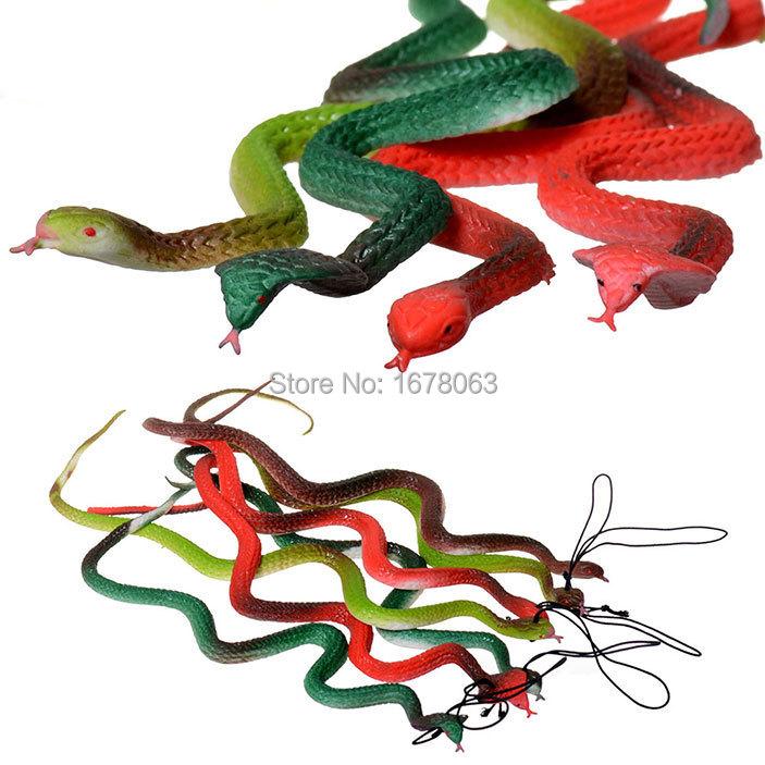 "Free Shipping 37cm/ 15"" Tricks Toy Replica Snake Cobra Lifelike Mamba model Game Prank Hoax Joke Party Property Shock Halloween(China (Mainland))"