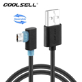 Coolsell Bend Micro USB Cable Fast Charging Mobile Phone Android Cable 1m 2m 3m USB Data