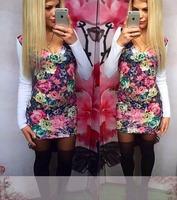 новые женской моды сексуальное платье печати платья красивые зимние