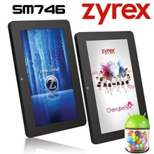 Sale!!! New cheap!!!7 inch AllWinner A33 Zyrex SM746 Quad Core Android 4.4 WIFI Dual Cameras Ultra Slim Tablet PC(China (Mainland))