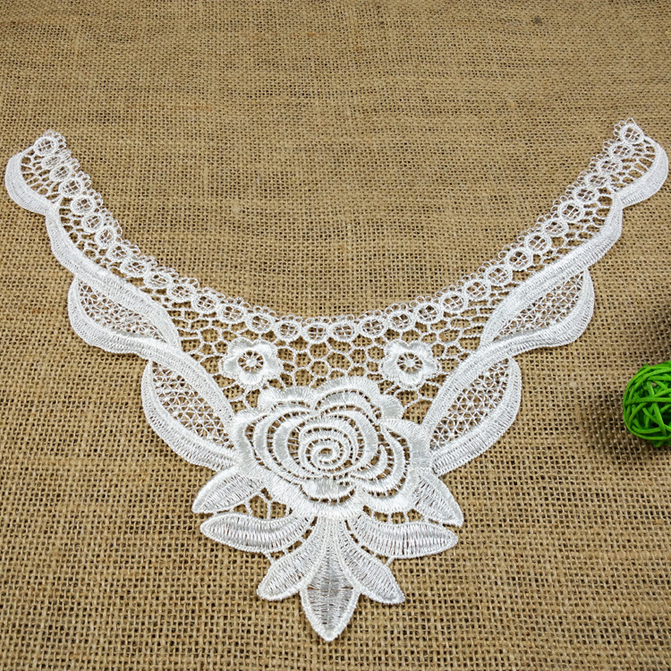 C531001 new high-end clothg embroidery collar garment light water soluble polyester water soluble lace DIY accessory(China (Mainland))