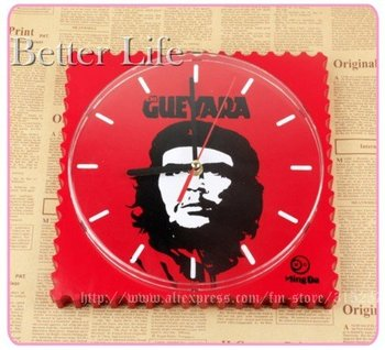 wholesale and retail/ Che Guevara clock,fashion wall clock,one-of-a-kind wall clock,holiday gift,home furnishing