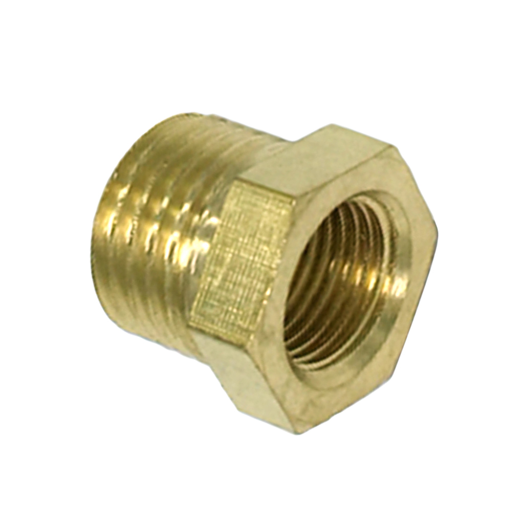 10 Pieces 1/8 Male x 1/4 Inch Brass Straight Invert Flare Female Pipe Adapter Fitting