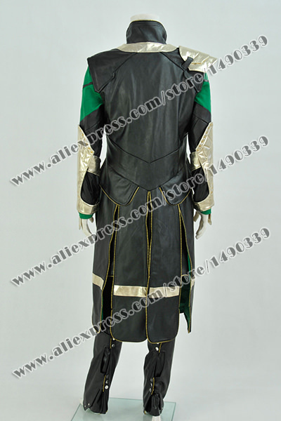 store product Thor  The Dark World Cosplay Loki Costume Movie Clothing Outfit Halloween High Quality Fast Shipping