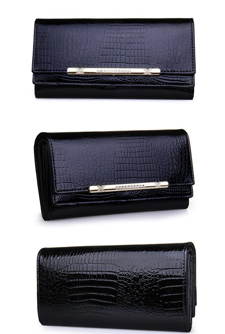 luxury crocodile women wallets genuine leather high