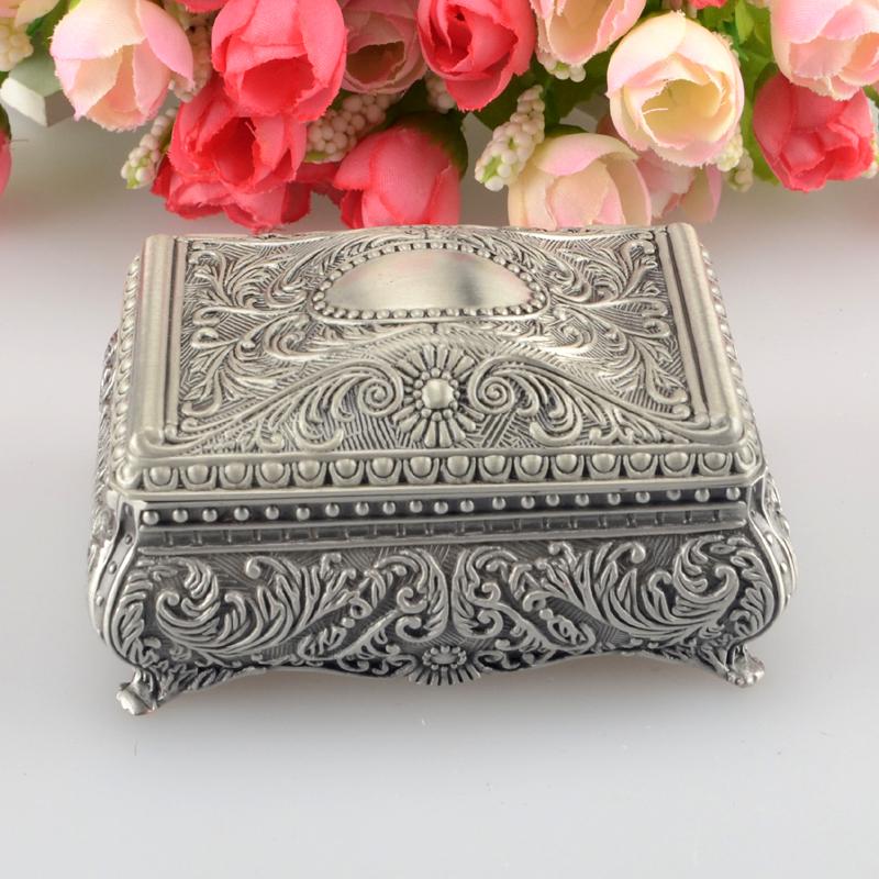 Fashion European Style Metal Jewelry Case Zinc-aloy Trinket box Christmas Gift Packing Necklace Package BO24967107(China (Mainland))