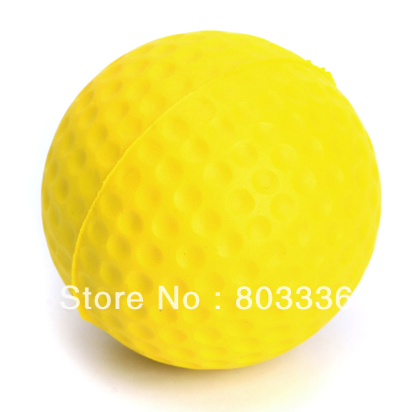 Free Shipping PU Golf Ball Golf Training Soft Foam Balls Practice Ball - Yellow(China (Mainland))