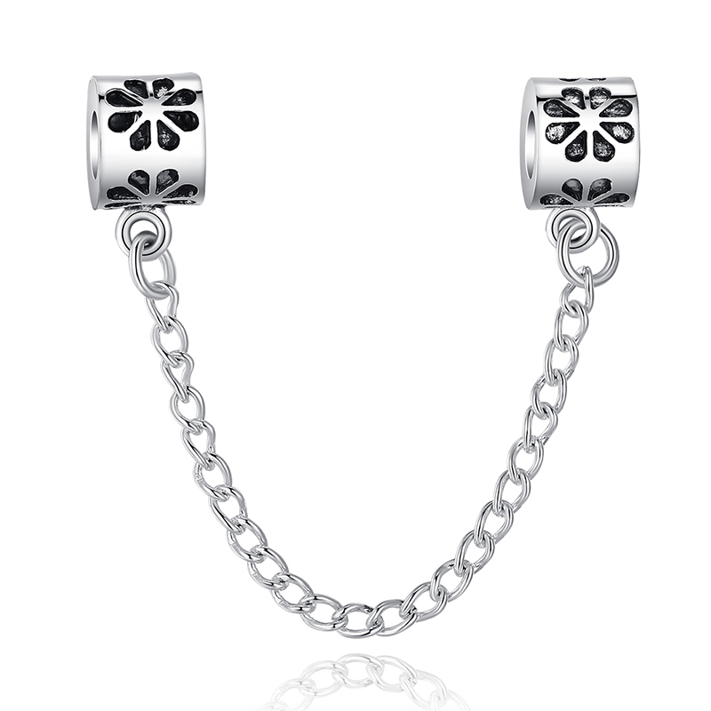 TOP Quality Hot 925 Silver Safety Chain Charm Beads Fit Origiral Pandora Bracelet Pendants For Women DIY Jewelry Free Shipping(China (Mainland))