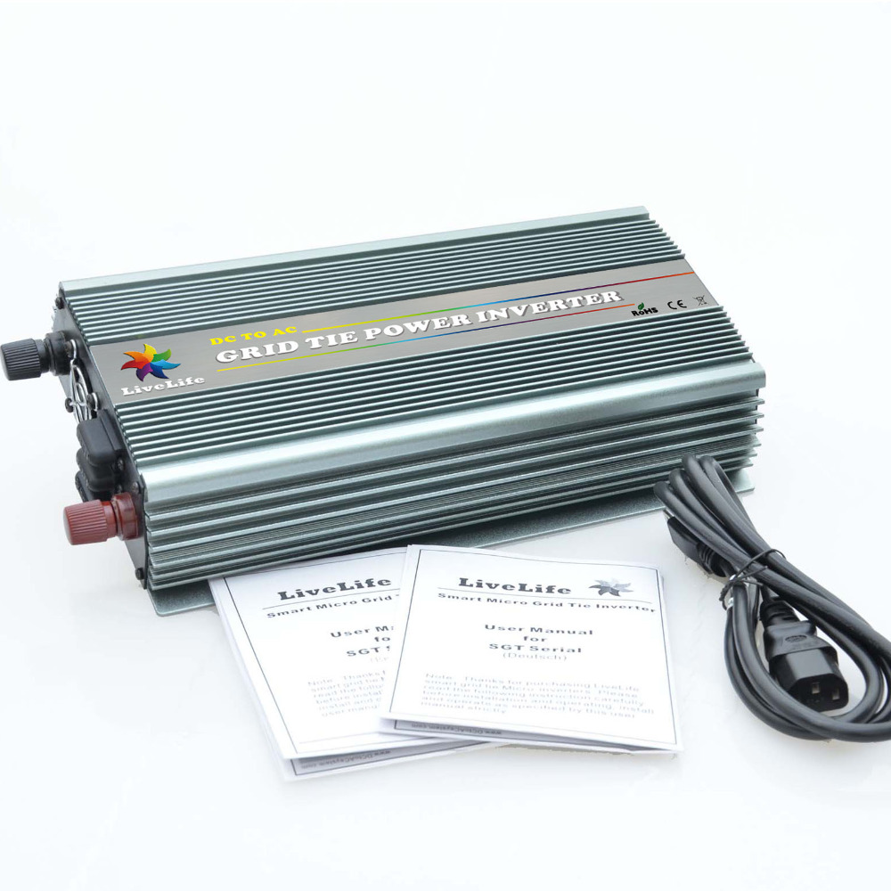 MPPT Function 1000W DC10.5~28V to AC230V 1000W Grid Tie Inverters for 1250W Solar Panels Grid Tie Inverter Pure Sine Wave(China (Mainland))