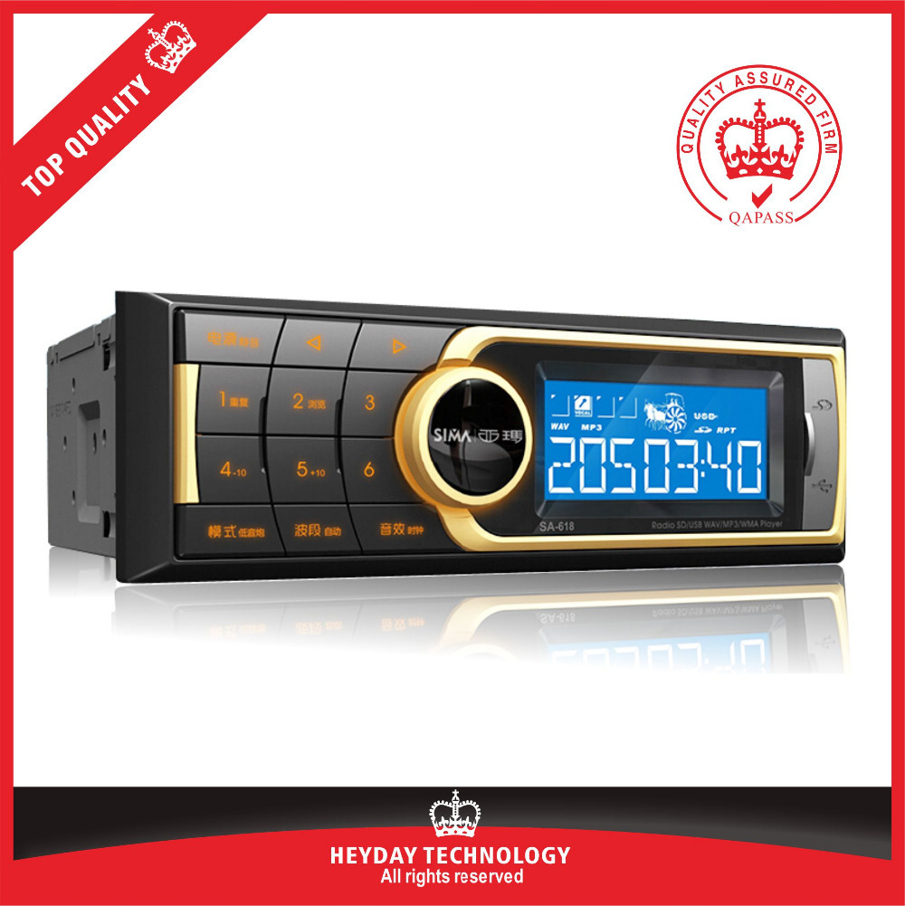 free shipping brand new auto audio SM-618 MP3 SD USB car radios player for car support wma wav mp3 format(China (Mainland))