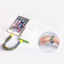 New Fashion Mobile Phone Charging USB Cable Bracelet For Samsung Android Micro USB Universal Data Cable Charge Line For Iphone 6