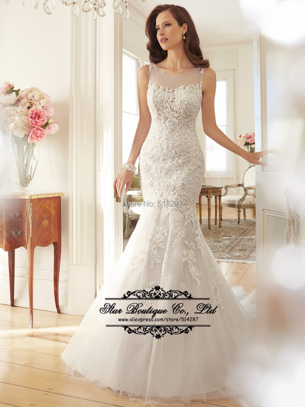 Buy dreamy design 2016 lace wedding for Where to buy yasmine yeya wedding dresses