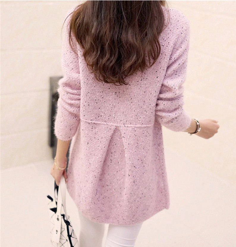 2016  fashion  Female New women's round neck cashmere sweater pure autumn and winter sweater cardigan sweater coat women